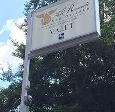 The Roosevelt Valet Building Sign
