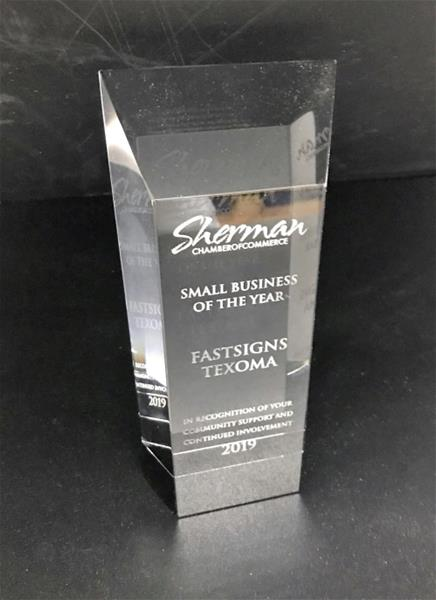 Awarded Small Business of the Year for 2019 from Sherman Chamber of Commerce