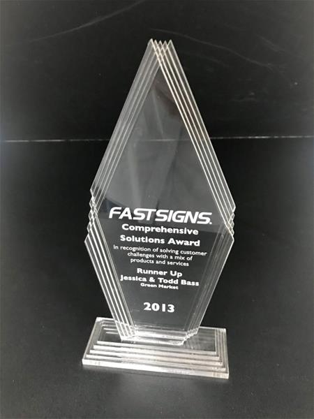 Awarded FASTSIGNS Runner up for Comprehensive Solutions Award 2013