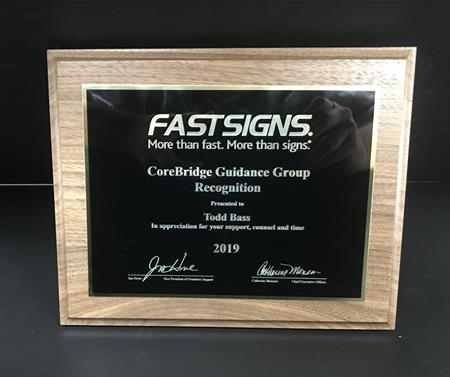 Awarded FASTSIGNS Corebridge Guidance Group Recognition for 2019