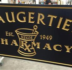 Saugerties Pharmacy Routed Exterior Hanging Sign