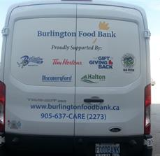 Burlington Food Bank Vehicle Graphics