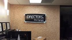 Director's Mortgage Push-through Acrylic LED Sign