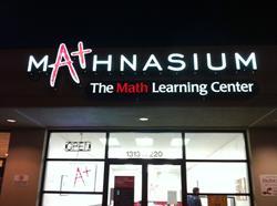 Mathnasium Channel Letter Sign
