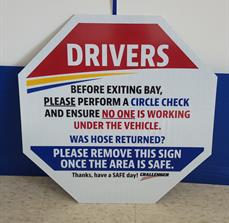 Challenger Safety Sign