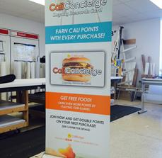 Caliburger Waterloo Banner Stand