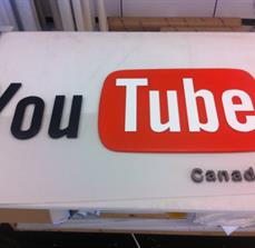 YouTube Canada Acrylic Letters