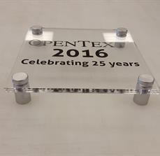 OPENTEXT Acrylic Sign