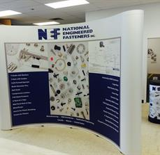 NEF Coyote Mural Trade Show Display