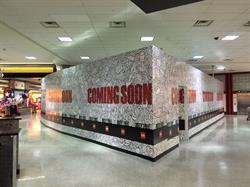 Houston airport barricade wall mural