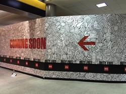 Barricade Wall wrap at Airport