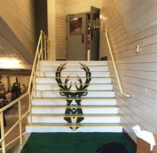 UW Panther Arena Stair Graphic