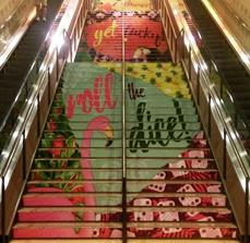 Potawatomi Hotel and Roll the Dice Stair Graphic