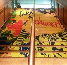 Potawatomi Hotel and Casino Tucan Stair Graphic