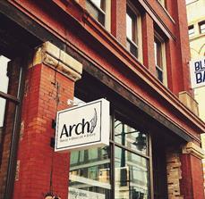 Arch Salon Building Sign