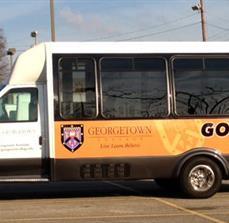 Georgetown College Vinyl Bus Graphics