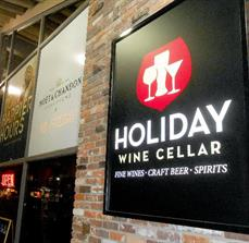 Holiday Wine Cellar Wall Sign and Window Graphics