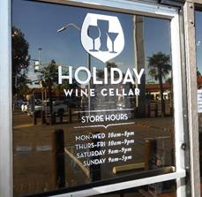 Holiday Wine Cellar Window Letters