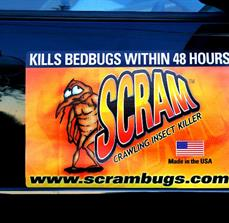 Scram Bugs Custom Magnetic Vehicle Sign