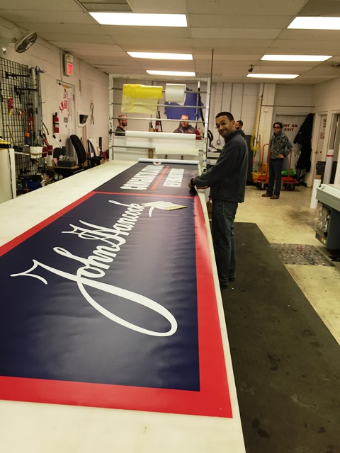 Local FASTSIGNS® Provides Patriots' Victory Parade Signage Amid Snowstorm