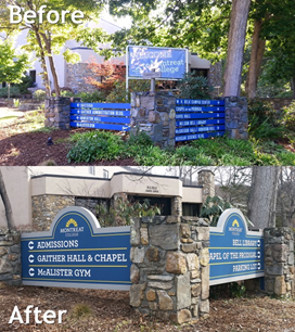 Montreat College Exterior Wayfinding Signage
