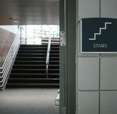 Braille Stair Sign