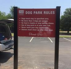 2900 Apartments Dog Park Rules Sign