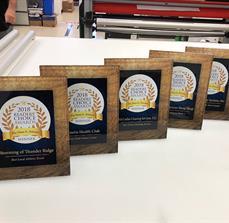 2018 Readers Choice Awards Custom Plaques