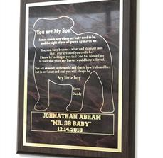 You Are My Son Plaque
