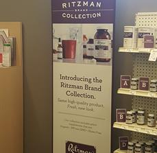 Ritzman Pharmacy Retractable Banner Stand