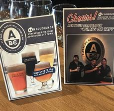 Alesatian Brewing Co. Table Top Displays