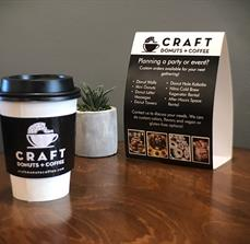 Craft Donuts + Coffee Cup Sleeve and Table Stand