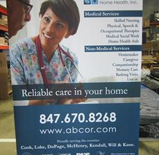 Abcor Home Health Retractable Banner Stand