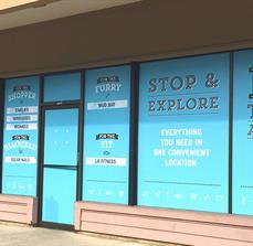 Bridgeport Village Window Graphics and Vinyl Lettering
