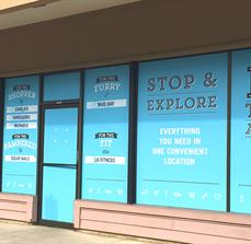 Bridgeport Village Window Graphics and Vinyl Lettering