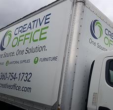 Creative Office Truck Graphics
