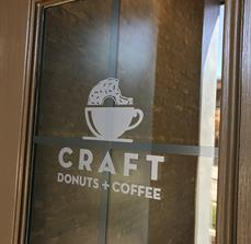 Craft Donuts + Coffee Window Graphics and Vinyl Lettering