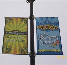 Belmont Park Pole Banners