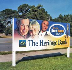 The Heritage Bank Site Sign