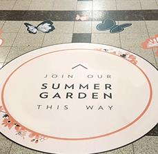 Bentall Centre Summer Garden Floor Graphics