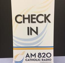 AM 820 Catholic Radio Wayfinding Banner