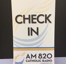 AM 820 Catholic Radio Wayfinding Banner