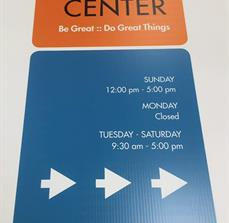 Ali Center Wayfinding Sign
