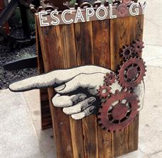 Escapology A-Frame Wayfinding Sign