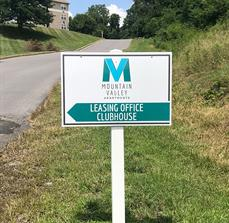 Mountain Valley Apartments Outdoor Wayfinding Sign