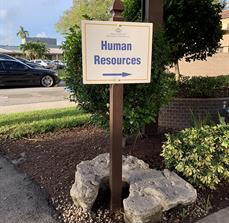 Boca Raton Regional Hospital Wayfinding Sign