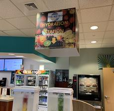 The Bistro Hanging Ceiling Directional Sign