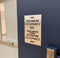 Gym Maximum Occupancy Sign