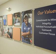 ECVC Stand Off Our Values Wall Signs