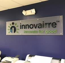Innovairre Stand Off Building Sign